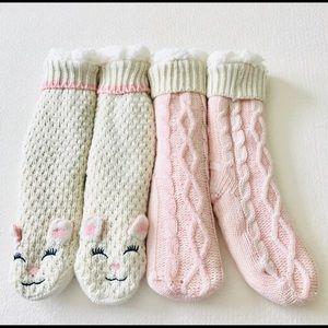🆕 Jane & Bleecker Plushfill Lined Slipper Socks